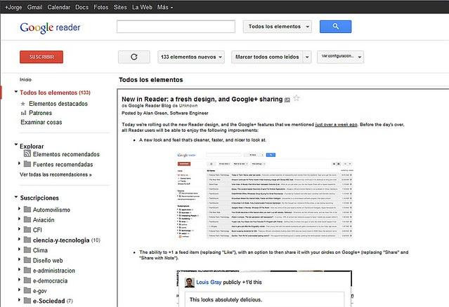 Google Reader 3112011