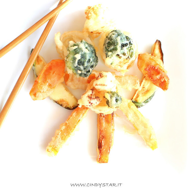 tempura  di verdure come un idiogramma japan