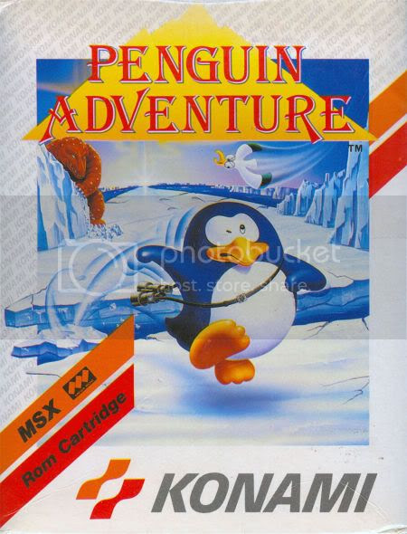 Portada MSX Penguin Adventure