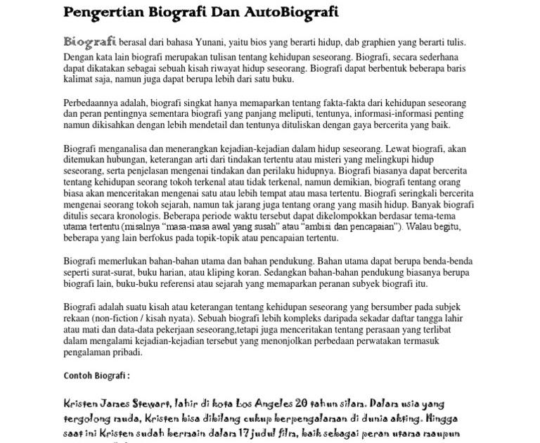 Contoh Autobiografi Mahasiswa Ui Jantoh