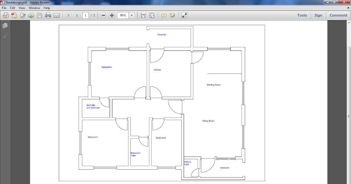 3 Bedroom Flat Design Plan In Nigeria Home Design Ideas