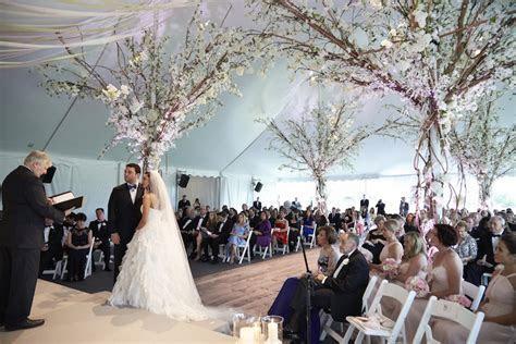 Ceremony Décor Photos   Rustic Elegant Tent Wedding