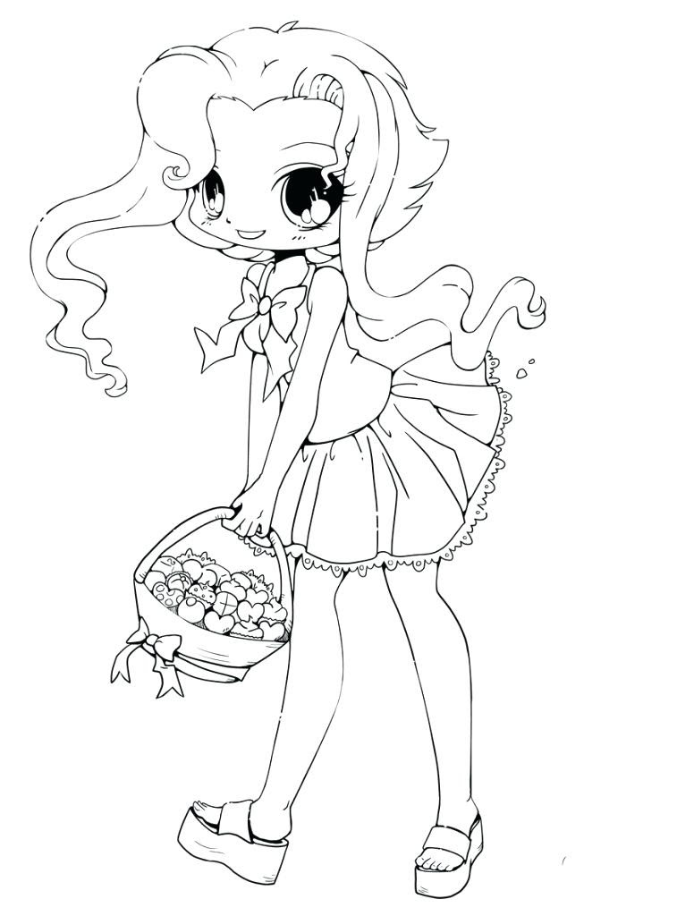 940 Top Anime Girl Coloring Pages Printable  Images