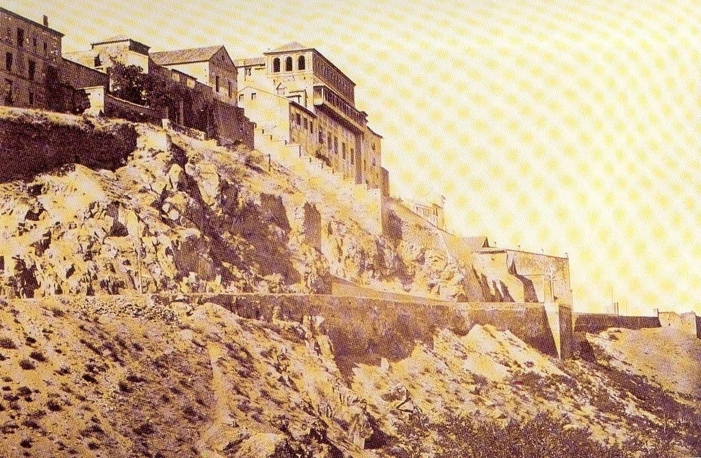 Convento de Santa Fe y Paseo del Miradero antes de la reforma de 1888. Cortesía de María Isabel Pérez del Pino