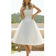 womens elegant white lace chiffon floral wedding dresses