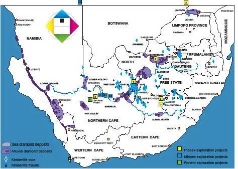 Resultado de imagen para diamonds sudafrica mines locations