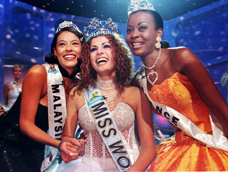 Abargil, cuando fue coronada Miss Mundo.