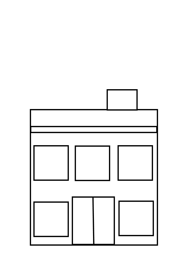 Image of school building clipart black and white clipart