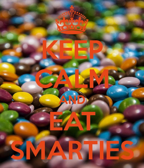 KEEP CALM AND EAT SMARTIES