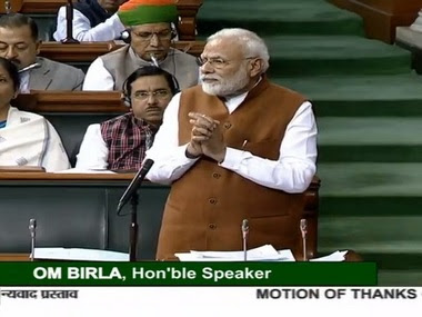 Narendra Modi replies to Motion of Thanks to president's address in LS