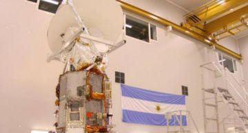 El primero de los satélites fabricados en Argentina.