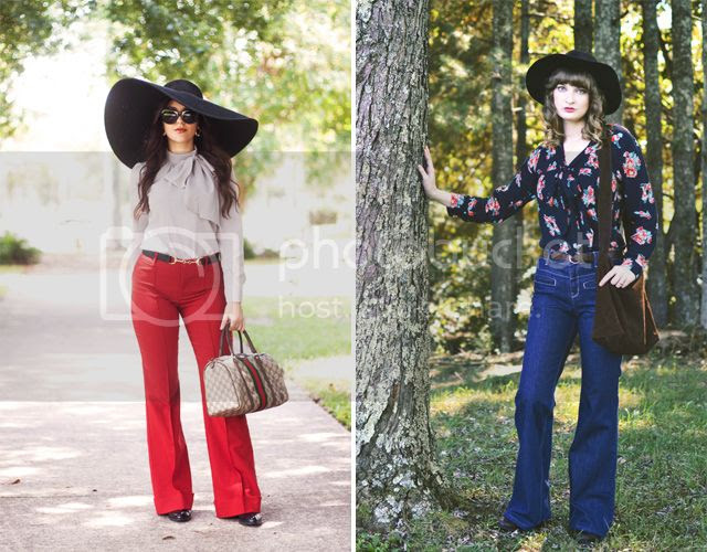 70s inspired wide legged pants and bell bottoms for fall 2015