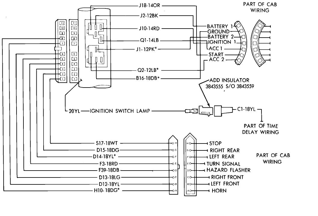 Early Bronco Steering Column Diagram