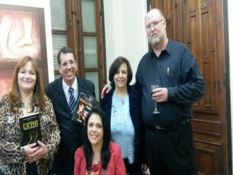 Na foto: Vanice Ferreira, Sandoval Tibúrcio, Isabel Furini, Anthony Leahy e Katia Velo.