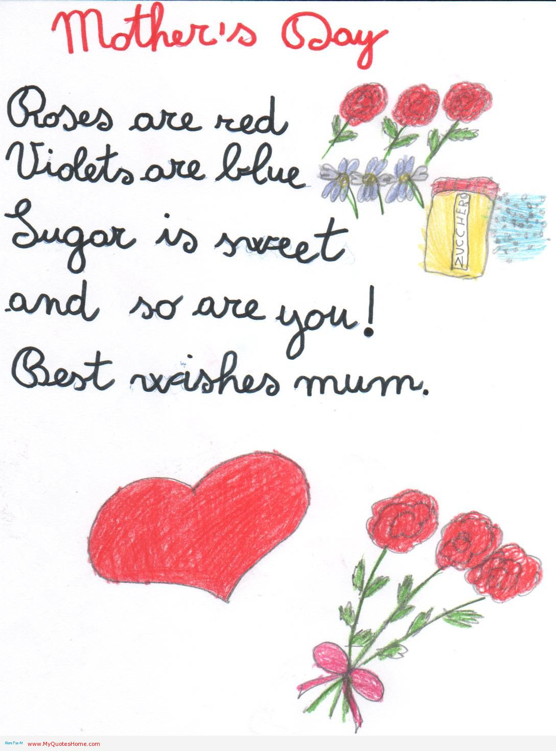 Birthday Card Sayings Roses Are Red Happy birthday mom poems from your daughter viewing gallery