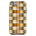 Multicolored Gold Stripes | Monogrammed Tough iPhone 6 Case