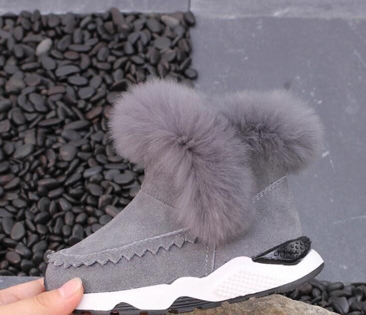 b72f1c98d5 Comprar Botas De Tobillo Cuero Genuino Para Niñas Invierno Nuevas Nieve  Gruesas Felpa Niños Zapatos Calzado Bebé Altas Online Baratos ~  pressureswashers