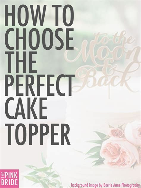 How to Choose the Perfect Wedding Cake Topper   The Pink Bride