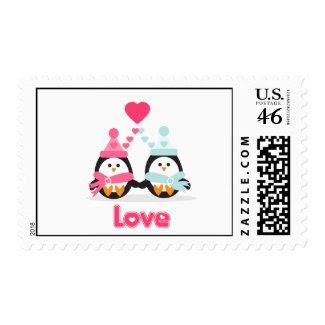 Penguin Love stamp
