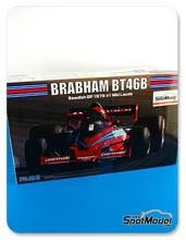 Kit 1/20 Fujimi - Brabham Alfa Romeo BT46B Parmalat - Nº 1, 2 - Niki Lauda, John Watson - Gran Premio de Suecia 1978 - maqueta de plástico