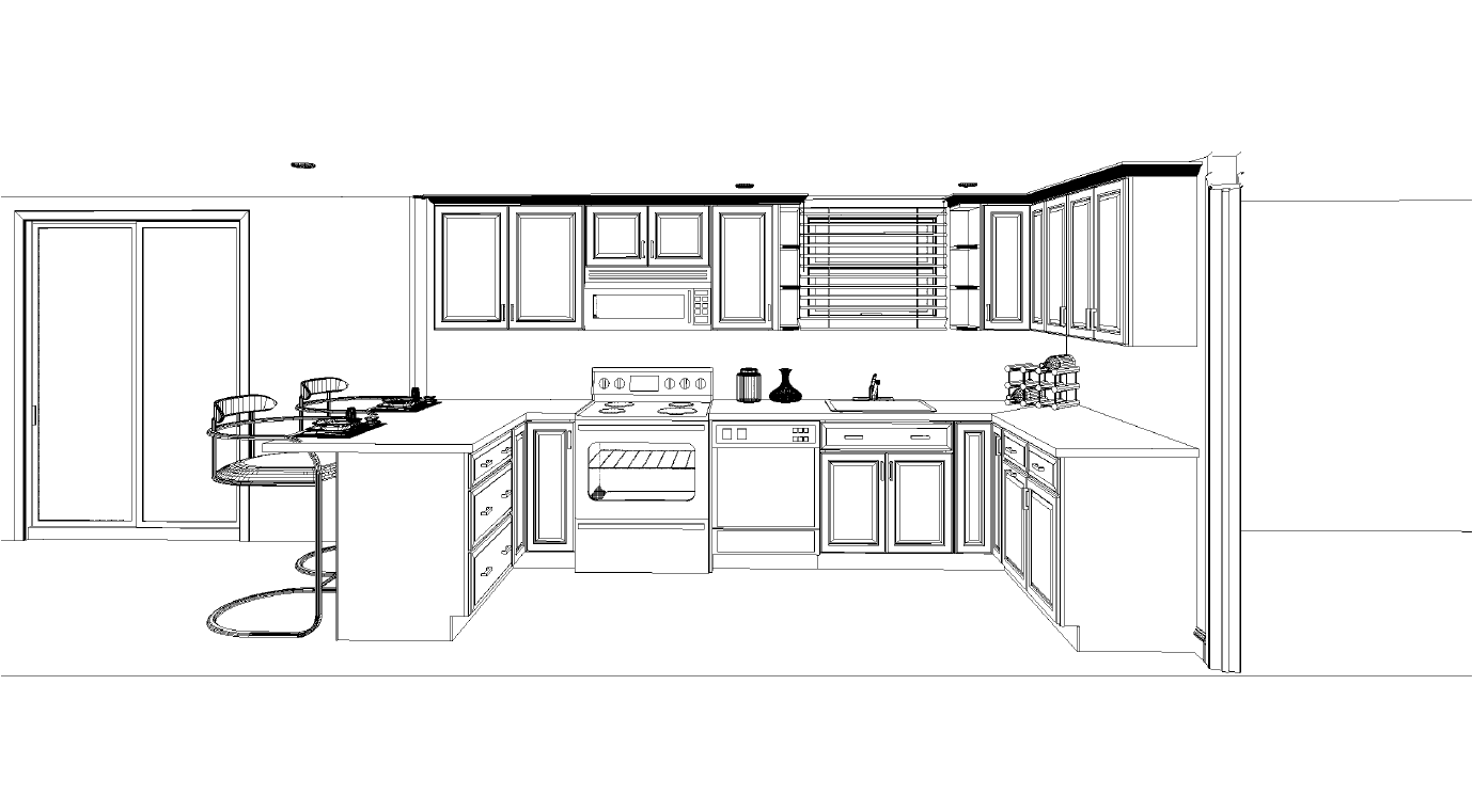 Professional kitchen layout interior design ideas for Kitchen cabinets layout