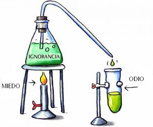 Proceso químico del odio