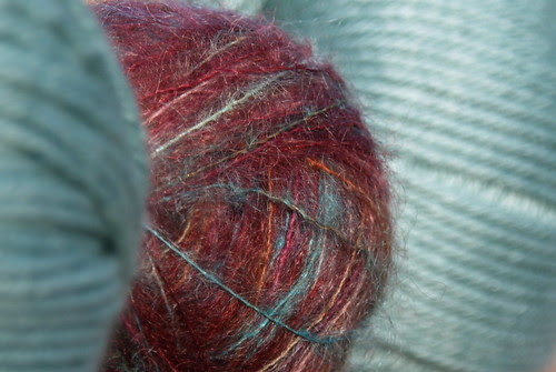 Colinette Parisienne and Rowan Silk Wool DK