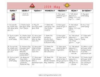 Freebie May Langauge Calendar
