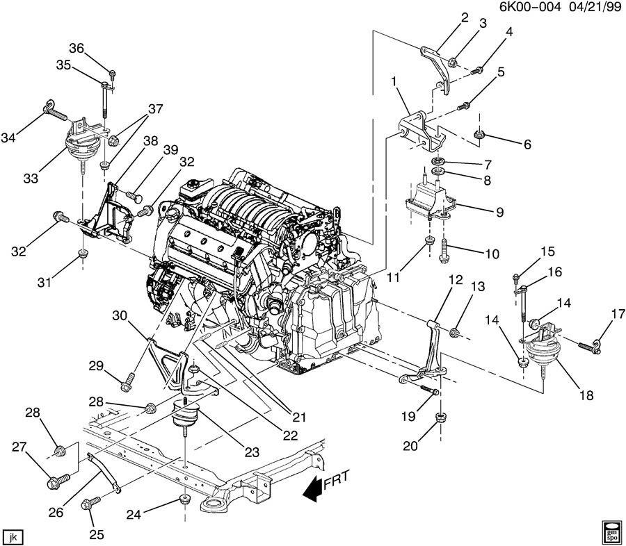 2005 Deville Vehicle Speed Sensor Engine Cradle Mount Cadillac Owners Forum