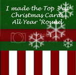 Top 3 with my Christmas card Dec 14