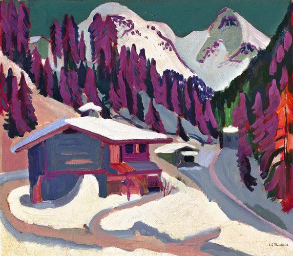 Ernst Ludwig Kirchner - Pista da gioco nella neve
