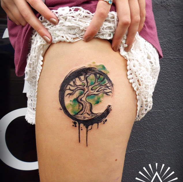 Watercolor Tree Of Life Tattoo At Getdrawingscom Free For