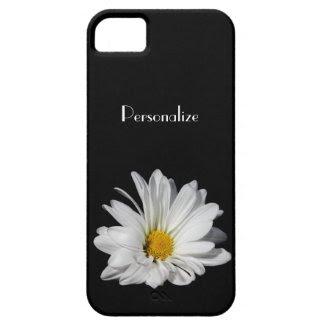 Elegant White Daisy Flower With Name iPhone 5 Case