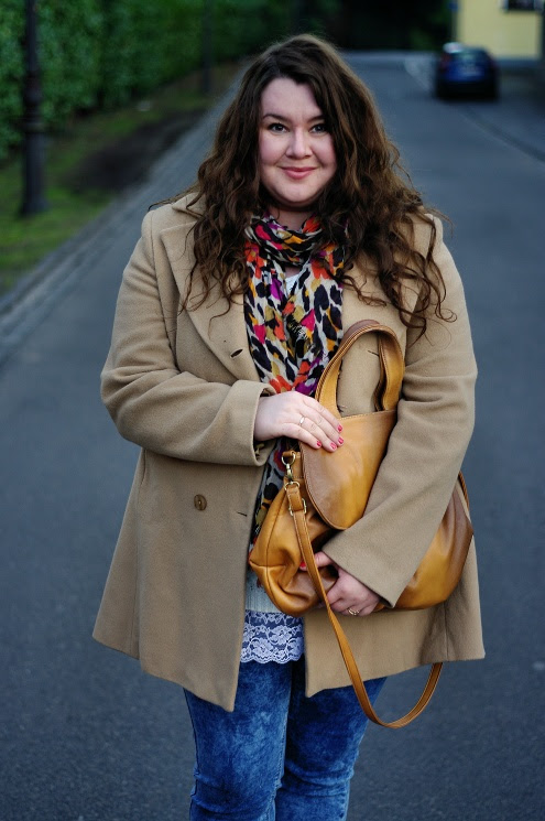 Große Größen Plus Size Fashion Blog jilsen long tall sally beige coat