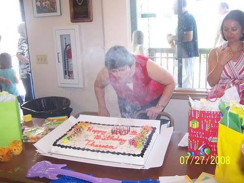 Whew!  60 candles make a LOT of smoke!!