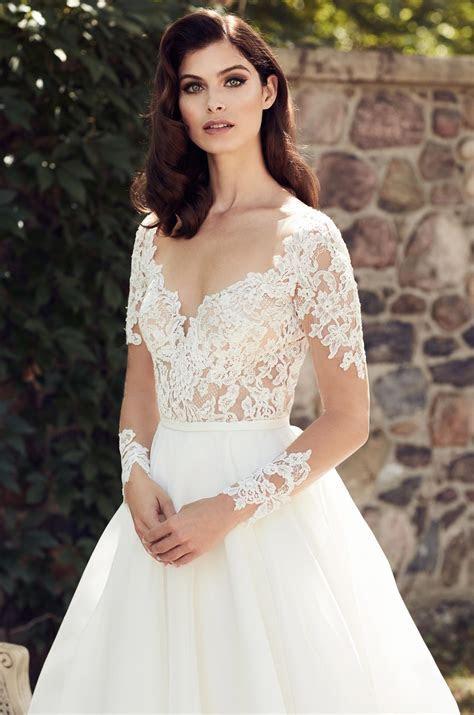 Illusion Lace Sleeve Wedding Dress   Style #4744   Paloma