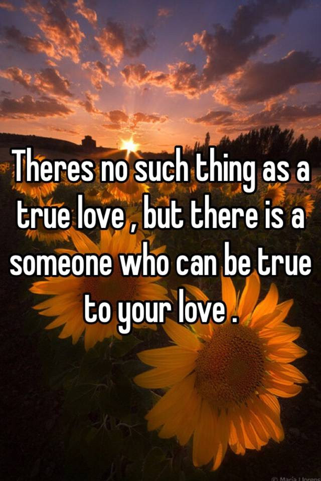 Theres No Such Thing As A True Love But There Is A Someone Who Can