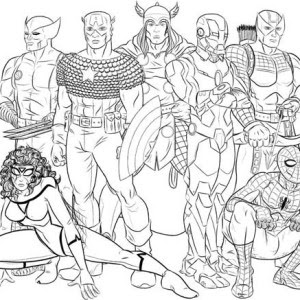 avengers assemble  free coloring pages