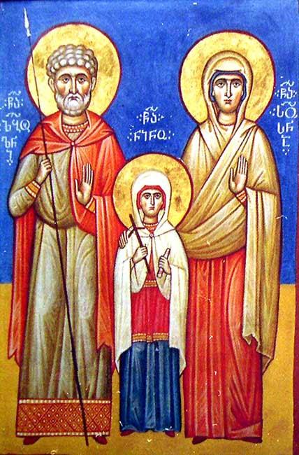 img STS. ZABULON & SUSANNA, Parents of St. Nina