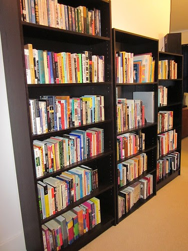 Hall bookcases, after