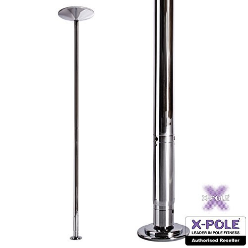 X-Pole Xpert Portable Removable Exercise Fitness Dance Pole Stripper Spinning Dancing Pole Set, 9 Feet, 45mm