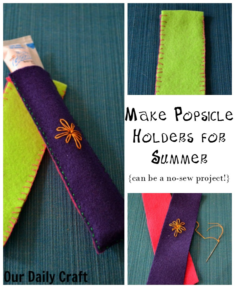 Make Popsicle Holders To Keep Kids Hands From Freezing