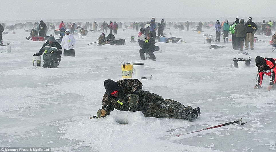 The competition sees more than 10,000 people brave Baltic conditions