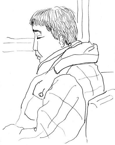 sleeping man on B62 bus