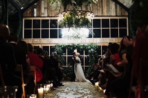 A Hermione De Paula Gown for a Soho Farmhouse Wedding