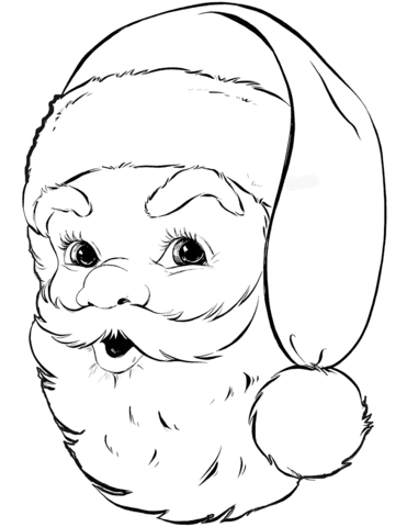 santa coloring pages  free download on clipartmag