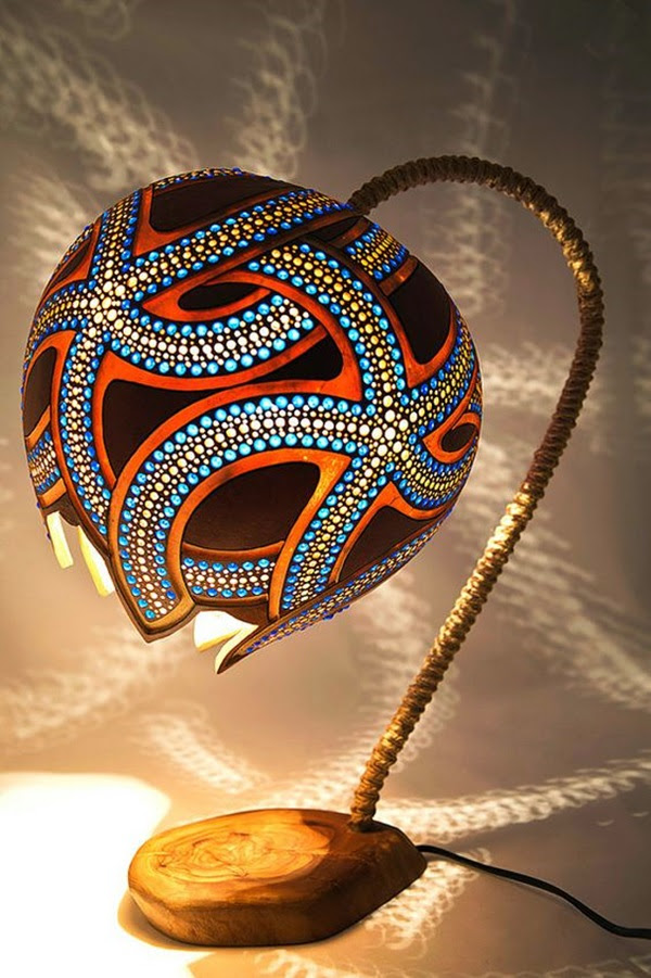Amazing Art Inspired Gourd Lamps (16)