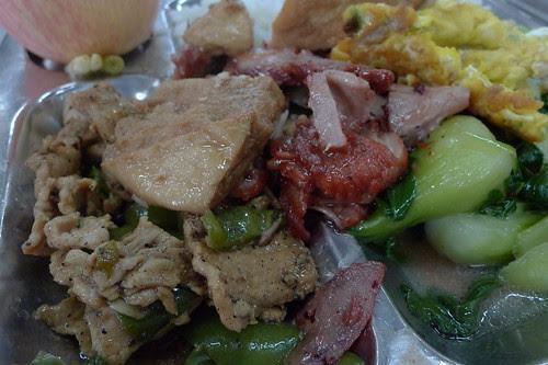 Close-up of Shenzhen Uni canteen food