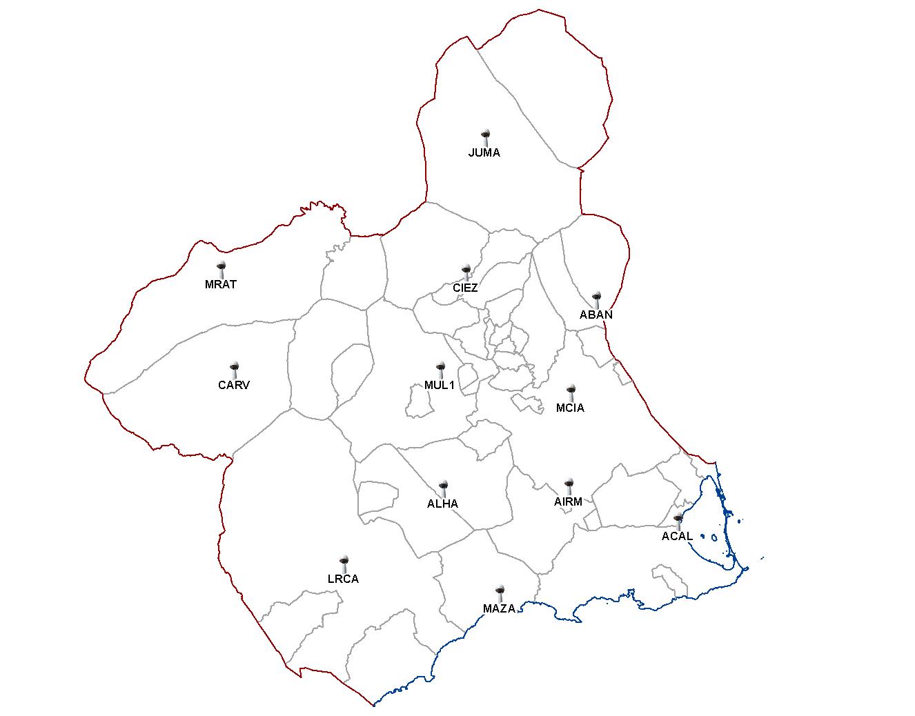 Mapa Region De Murcia.Mapa Region De Murcia Mapa