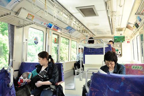 單軌電車內的樣子